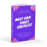 Must have Pages Checklist